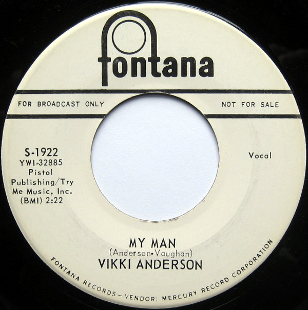 1964 Fontana 45: Vicki Anderson - My Man
