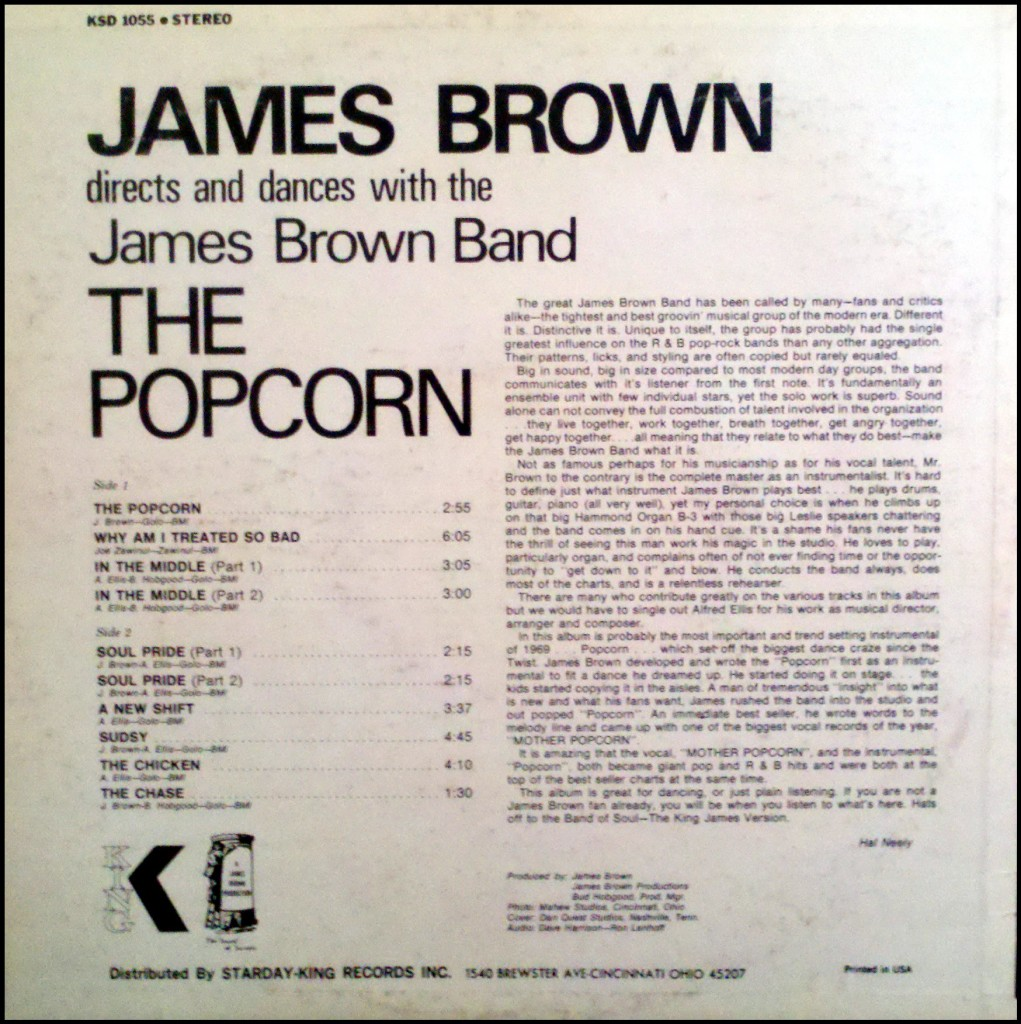 1969 Lp The Popcorn The James Brown Superfan Club