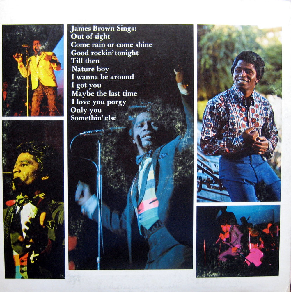 1968 Smash LP: James Brown Sings Out of Sight - Back Cover