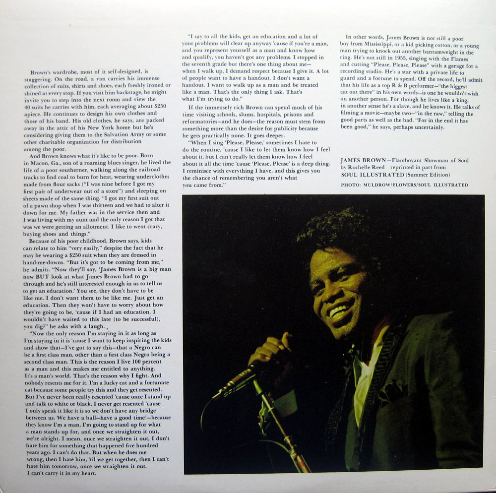 1968 Smash LP: James Brown Sings Out of Sight - Gatefold 2