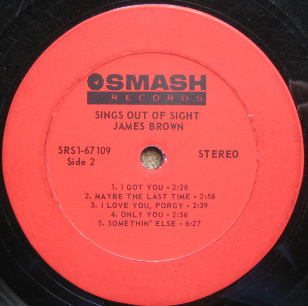 1968 Smash LP: James Brown Sings Out of Sight - Side 2