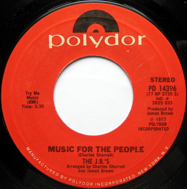1977 Polydor 45: The J.B.'s - Music for the People