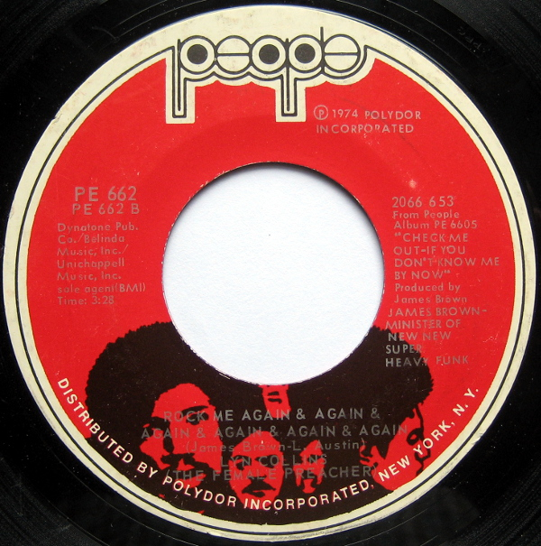 1976 People 45: Lyn Collins - Rock Me Again and Again and Again and Again