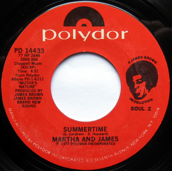 1977 Polydor 45:  Summertime, with Martha High