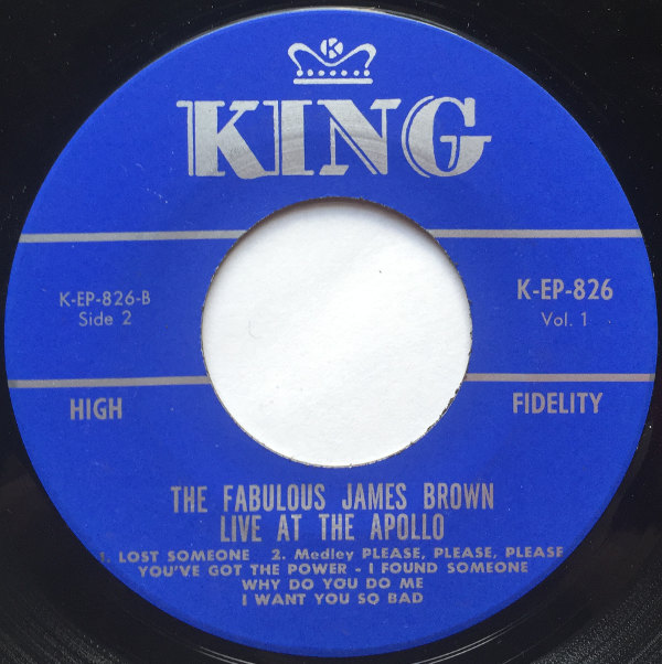 1963 King EP: The Fabulous James Brown Live at the Apollo