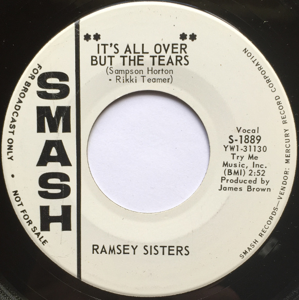1964 Smash 45: Ramsey Sisters – It's All Over But The Tears/Tell Him Girl