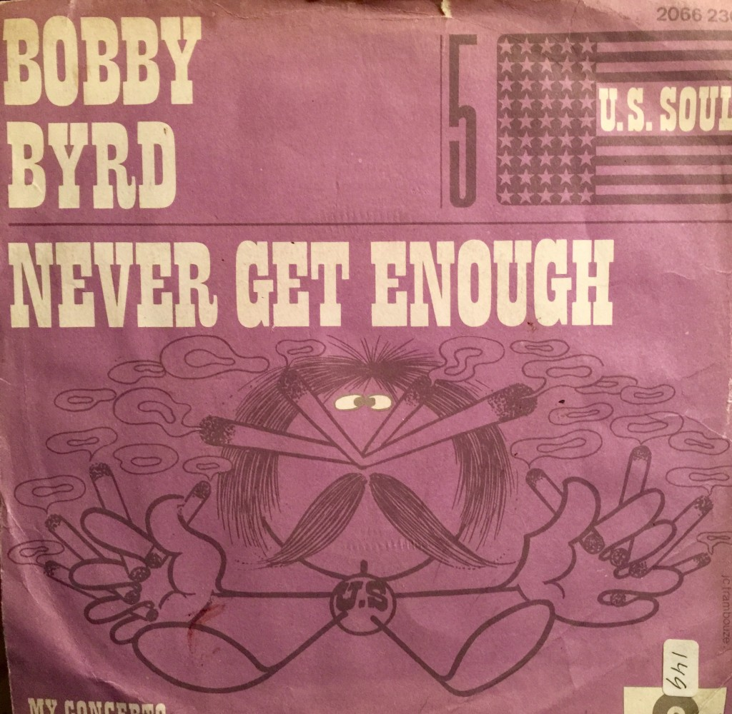 1972 Bobby Byrd 45 picture sleeve of French Polydor release