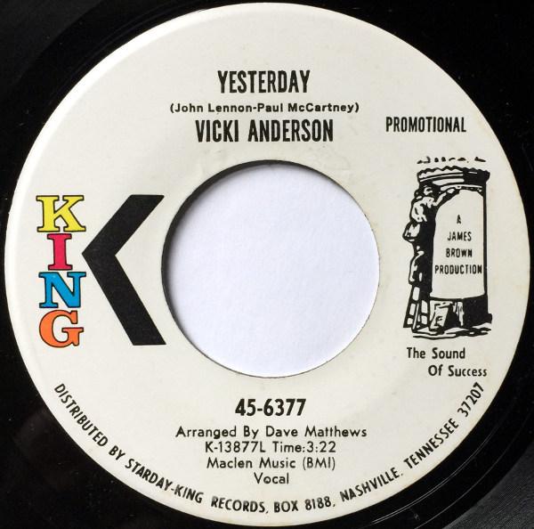 1971 King Promo 45: Vicki Anderson – Yesterday
